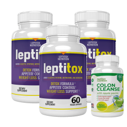 leptitox three bottles with colon cleanse bonus